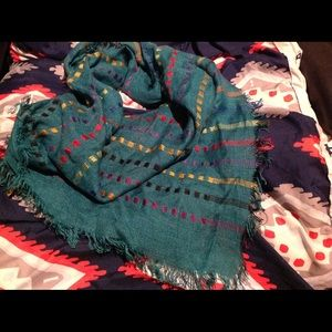 Green colorful scarf
